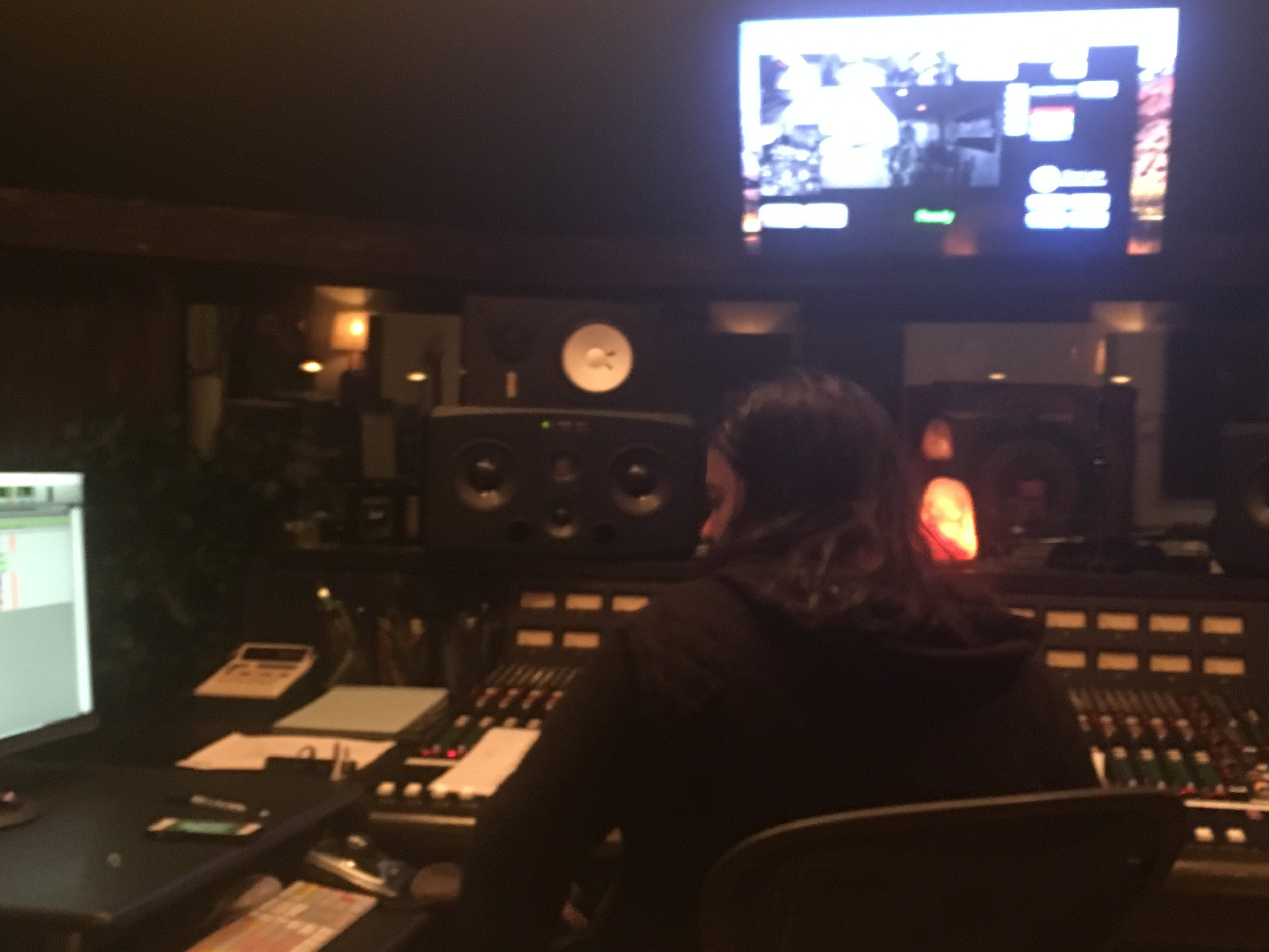 Our home: Clear Lake Recording with Ivan Rivera, our engineer