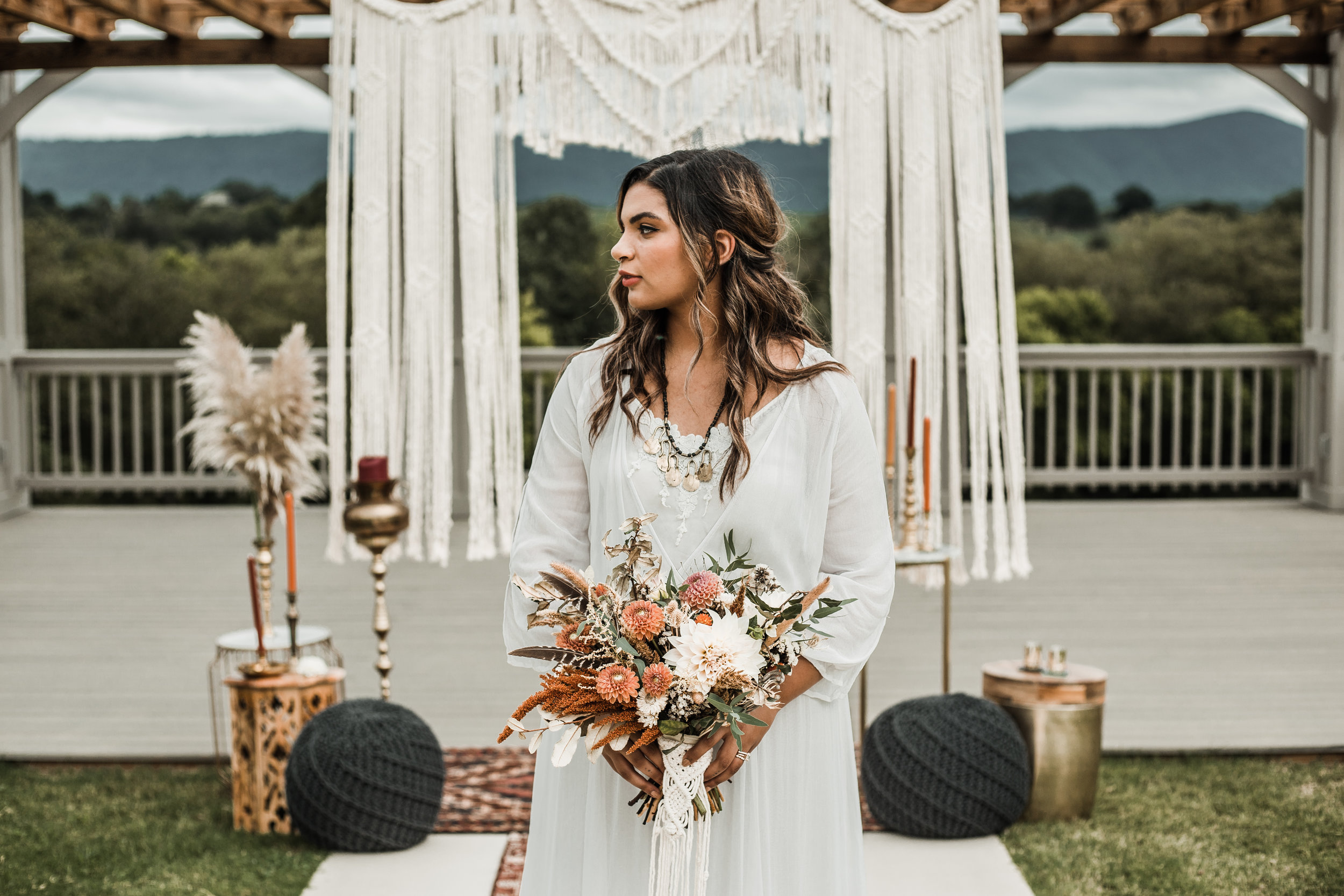 Vendors:  Ocoee Crest ,  Mia & May Events ,  Creekside Flower Farm ,  Mother Macramei ,  The Copper Quail ,  Lived in Makeup ,  Odyssey Goods ,  Rone Regency Jewelers ,  Robyn Grant Calligraphy ,  The Cupcake Club ,  Bleu Fox Cheese Shop ,  ShadowBox Paperie ,  White Table Specialty Linens ,  Kaitlin Tomas Photography