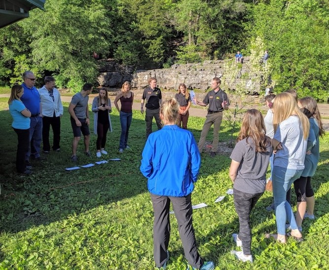 Participants learning from Subaru/ Leave No Trace Traveling Trainers. Learn recreation ethics and outdoor skills from this team at Western Colorado University on September 4th!  See the posters below for more details.