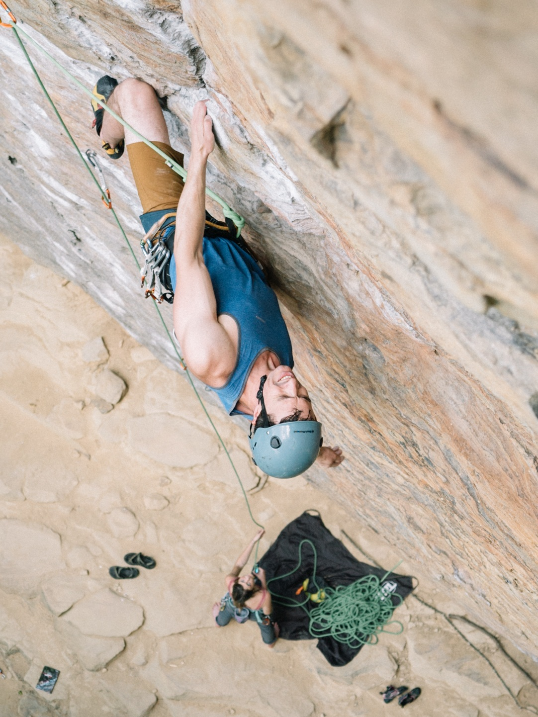 David Whitney sends Pulling Pockets (5.10d) onsight,
