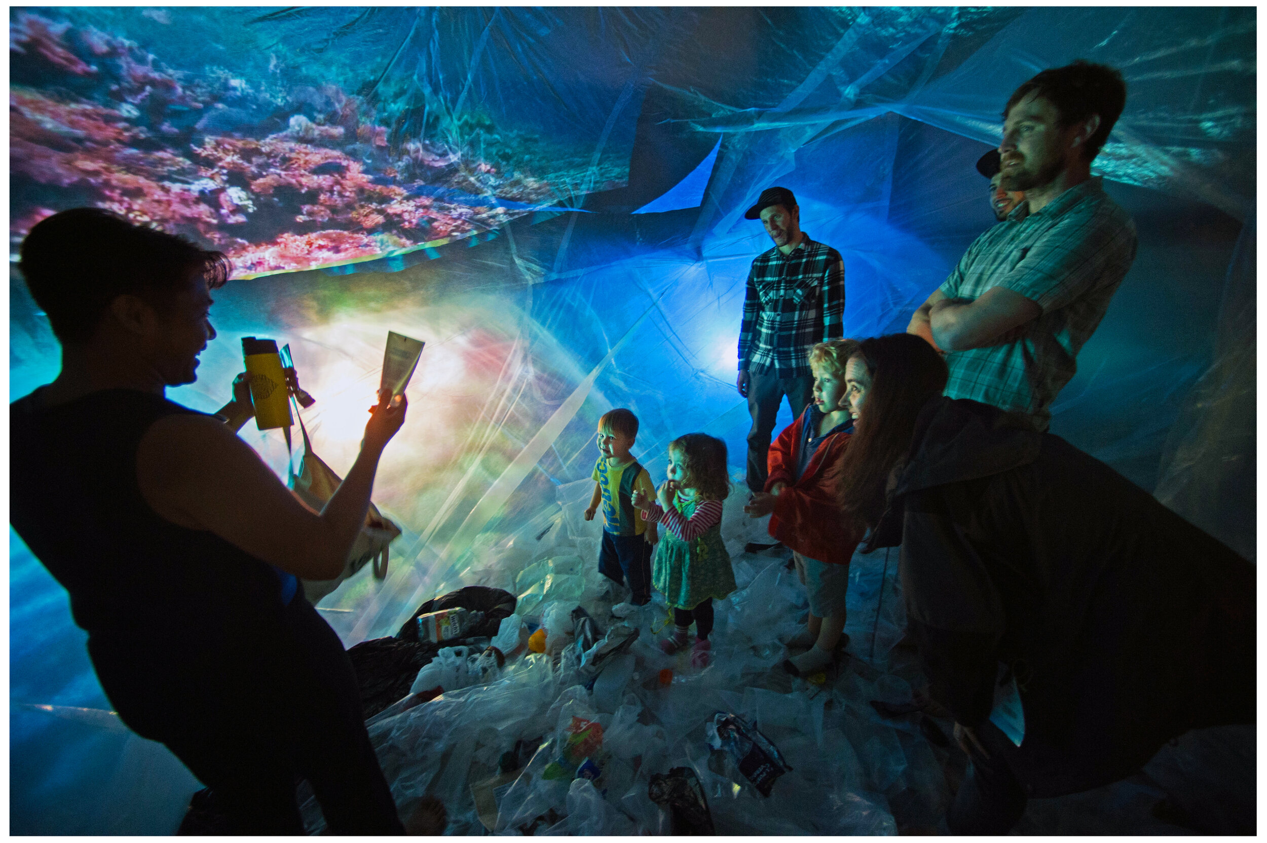 PLASTICITY PROJECT - Interactive and immersive installations that dynamically merge art and science to educate the public about marine biodiversity and plastic pollution.