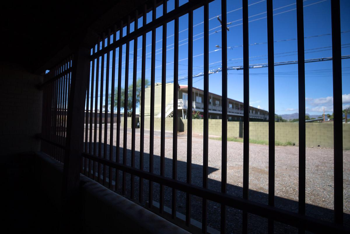 Security bars were recently installed around the Miracle Square, 2601 N Oracle Rd., property. Miracle Square helps adults with disabilities and the elderly to live independently. September 26, 2019.  Mamta Popat / Arizona Daily Star