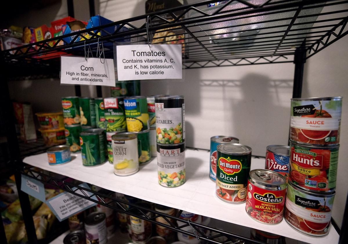 All the residents at Miracle Square, 2601 N Oracle Rd., can take some items from the food pantry on the 3rd and 4th Monday of each month. Miracle Square helps adults with disabilities and the elderly to live independently. September 26, 2019.  Mamta Popat / Arizona Daily Star