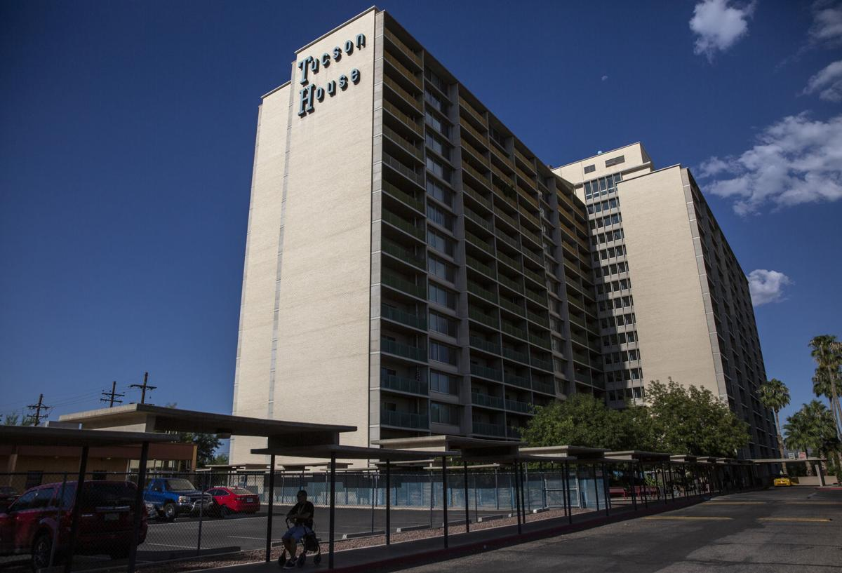 People living at the Tucson House — once a luxury hotel and now one of the city's largest public housing units — say dealers and prostitutes often roam the hallways and stairwells.  Josh Galemore / Arizona Daily Star