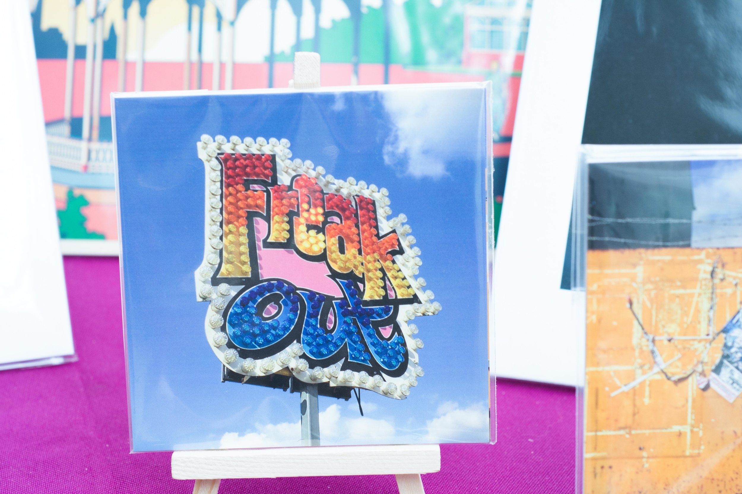 'Freak Out' cards by Tom Hicks, Black Country Type