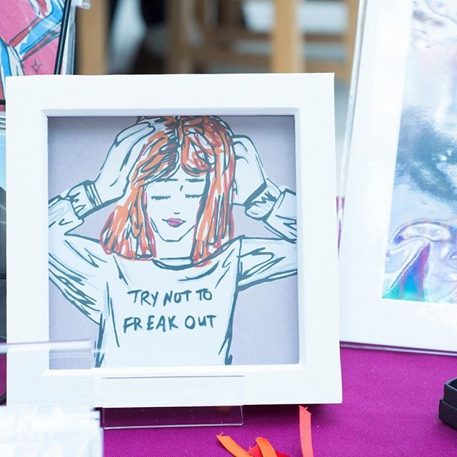 Did you see my latest post? There's art by staff, students and alumni of the university of Wolverhampton at the @made_in_wolves pop-up shop, like this one by @becbarts! Link in bio 😊 #theartisandetour