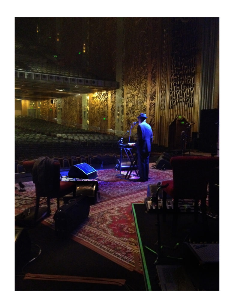 "SHARON ROBINSON , 2013  Sound Check at the Paramount Theater – Oakland 2013  Sizes: 20""X16""  Color: Color   Type: Archival Digital Print   Edition of: Limited 20  Signed and dated"