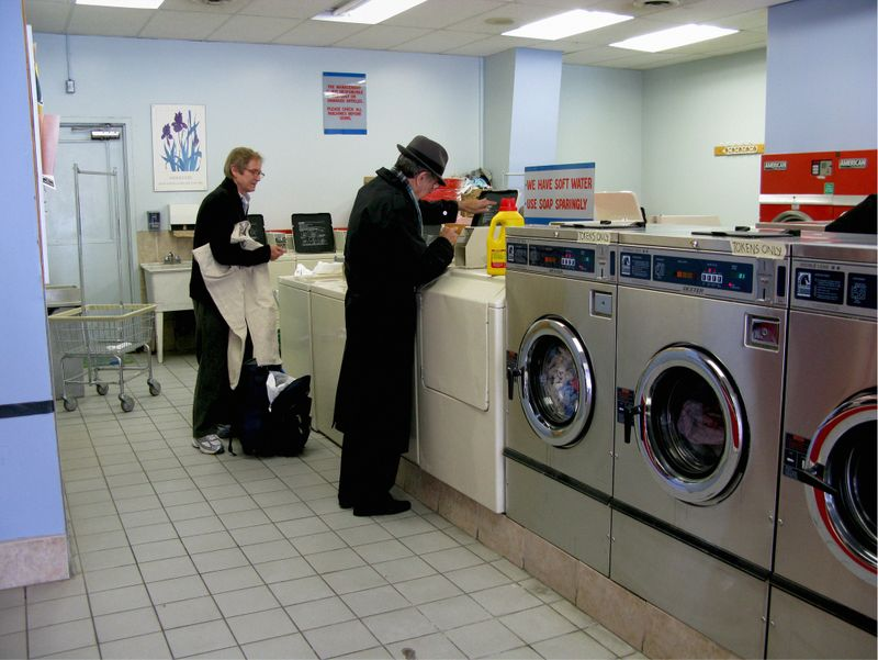 """Clean Clothes -- Ontario, Canada 2008."" This image is in the book ""On Tour With Leonard Cohen"" By Sharon Robinson. (Sharon Robinson / Morrison Hotel Gallery)"