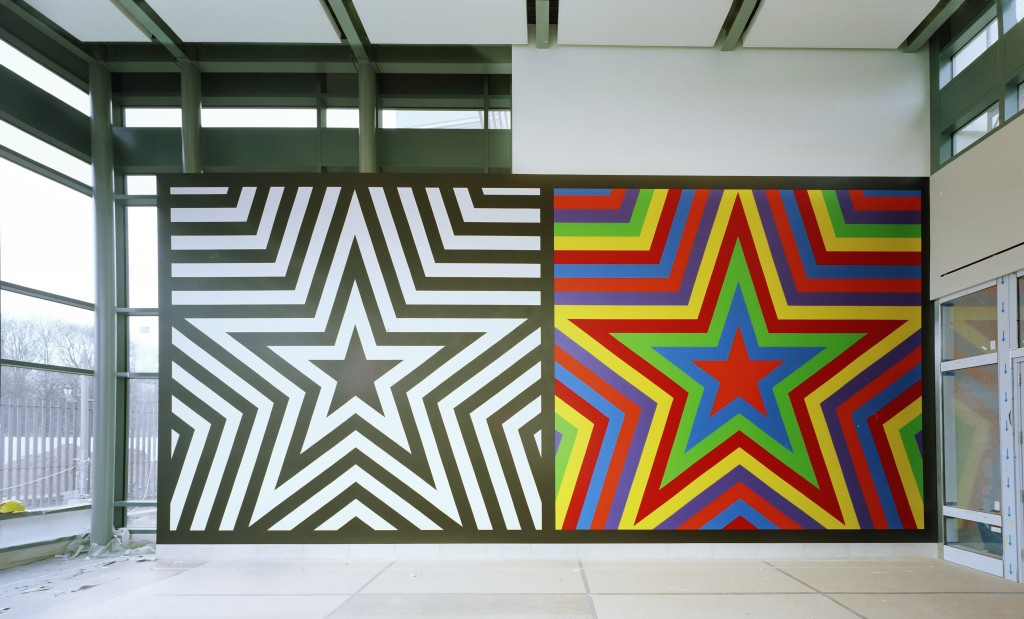 Sol LeWitt's  Wall Drawing #1256: Five Pointed Stars  permanently   installed at the U.S. Embassy in Berlin by the Foundation for Art and Preservation in Embassies