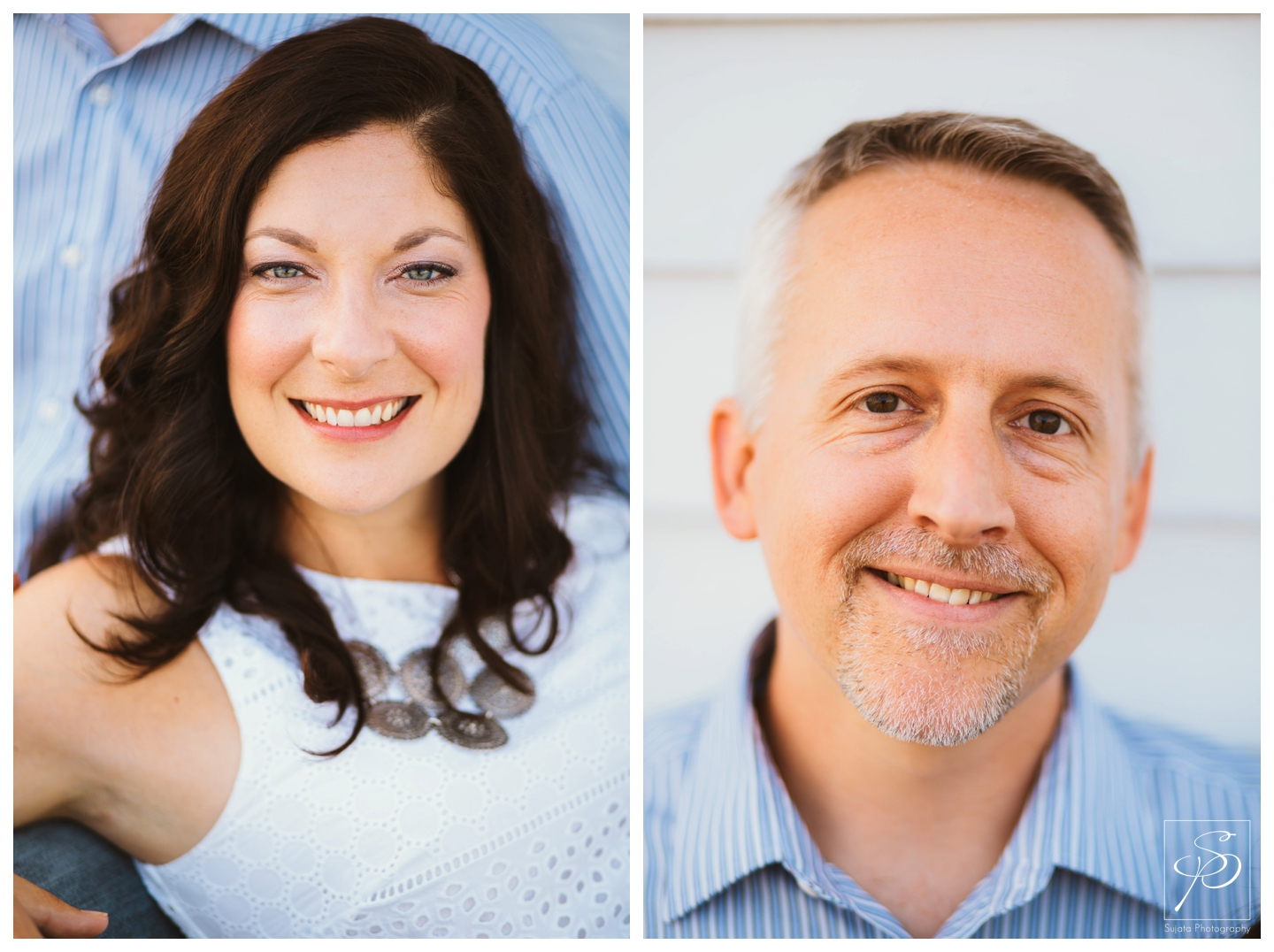 Portraits of an engaged couple