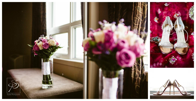 Bridal Bouquet and shoes at Executive Royal Inn Calgary