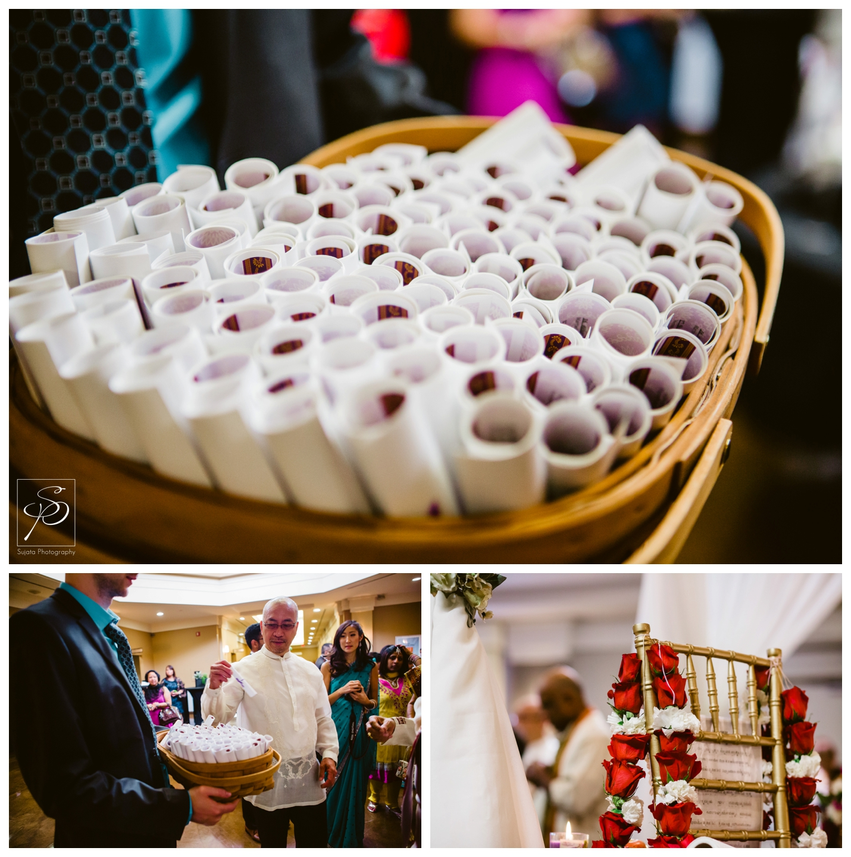 Programs for guests during Hindu wedding ceremony at Executive Royal Inn Calgary