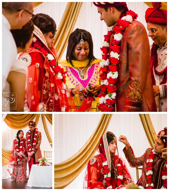 Bride and Groom hindu wedding ceremony Executive Royal Inn Calgary