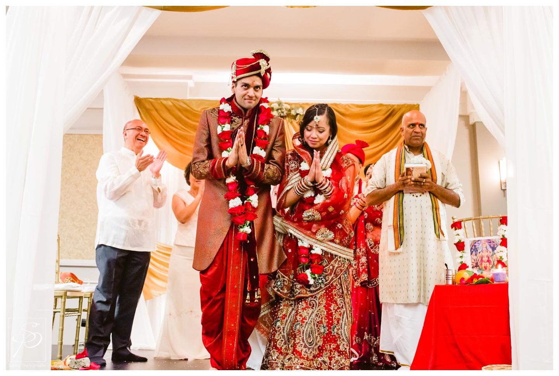 Bride and Groom during Hindu wedding ceremony Calgary