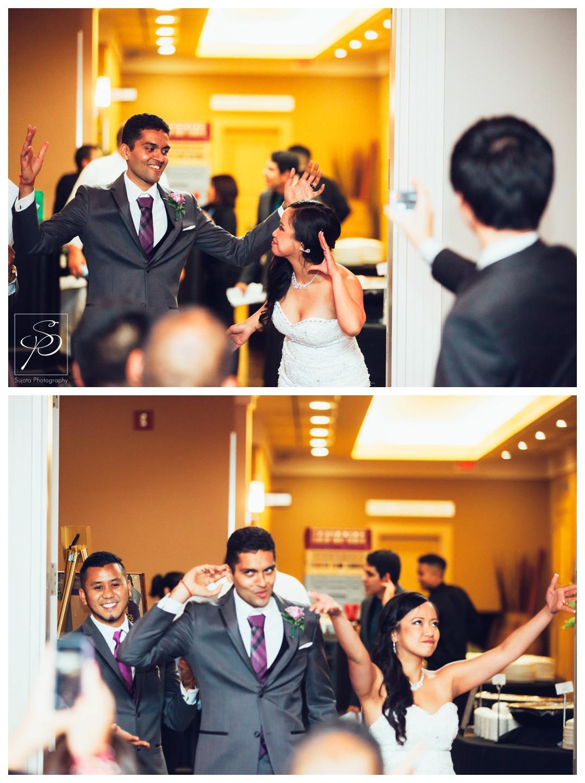 Couple entering reception at Executive Royal Inn Calgary