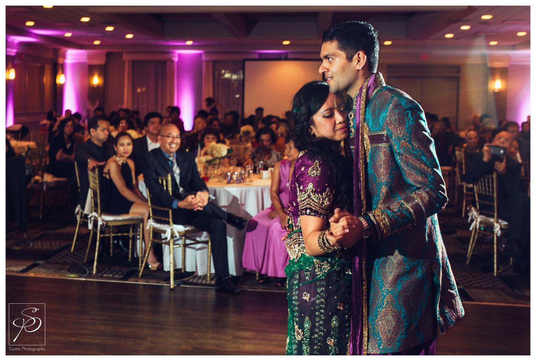 Couple's first dance wedding reception Executive Royal Inn Calgary