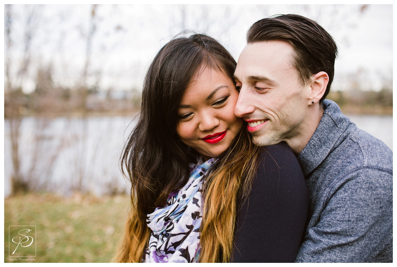Headshot of coule Calgary Engagement Photographer Crystal Sujata