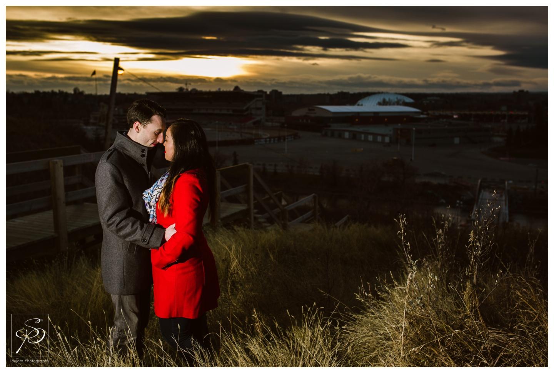 Sunset Calgary Engagement Photography Crystal Sujata