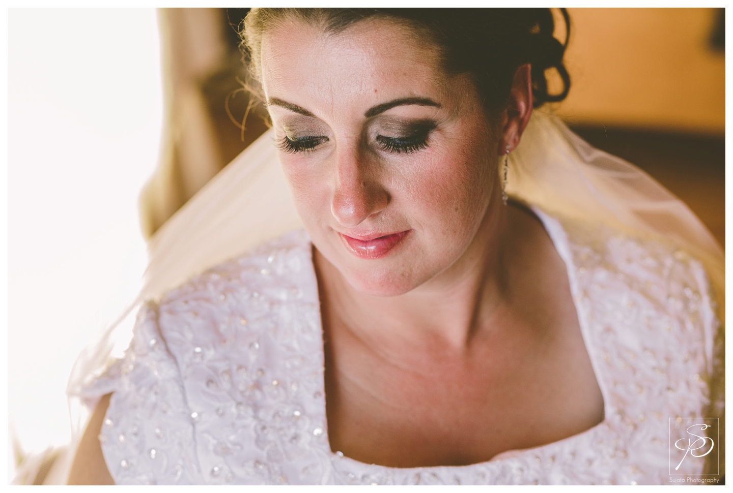Close up portrait of bride