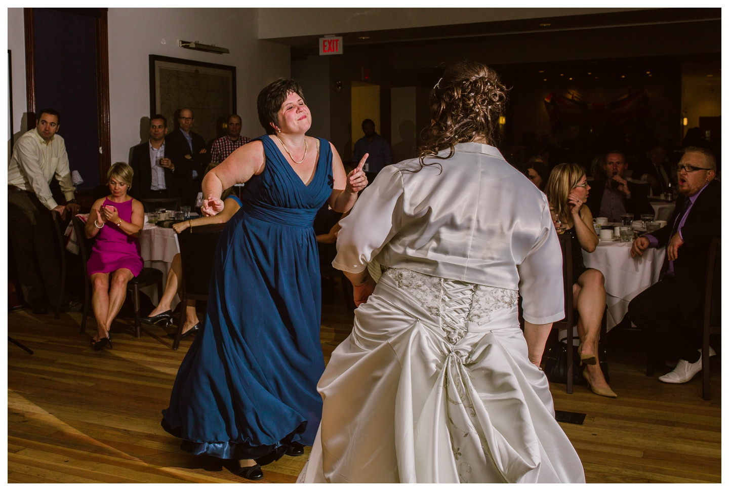 Guests dancing at Fort Calgary wedding reception