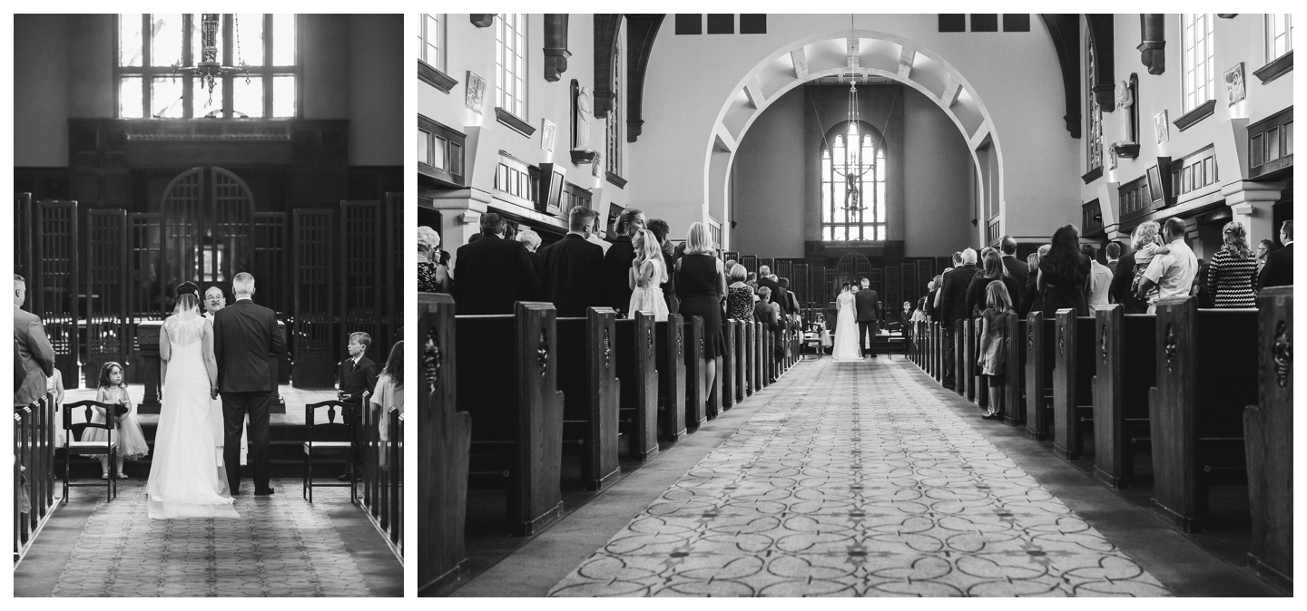 Catholic Cathedral wedding ceremony