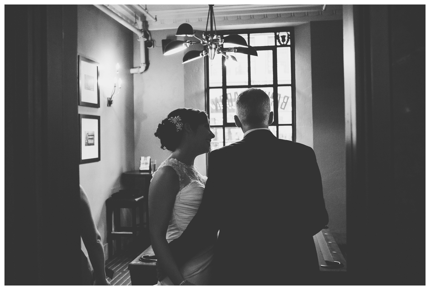 Bride and Groom at Bank and Baron Pub