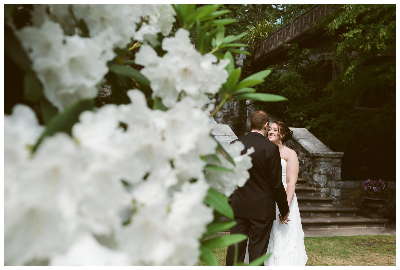 Outdoor Garden wedding English inn Victoria