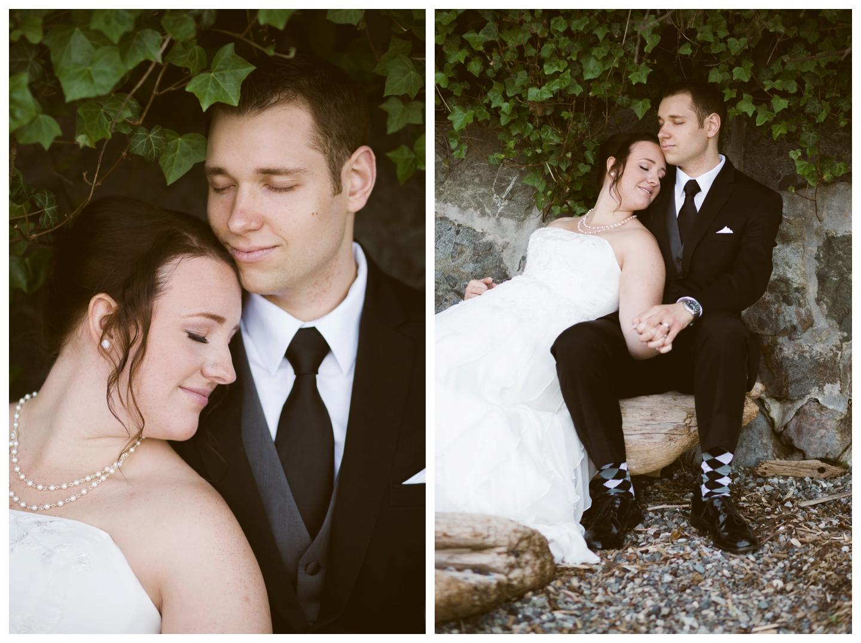 Outdoor Garden wedding English Inn on Vancouver Island