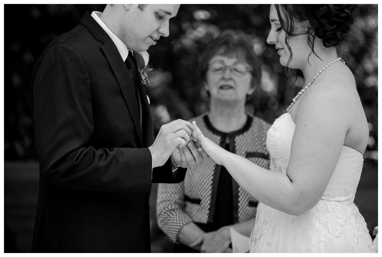Outdoor Garden wedding at English Inn on Vancouver Island