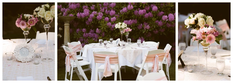 Garden wedding Vancouver Island