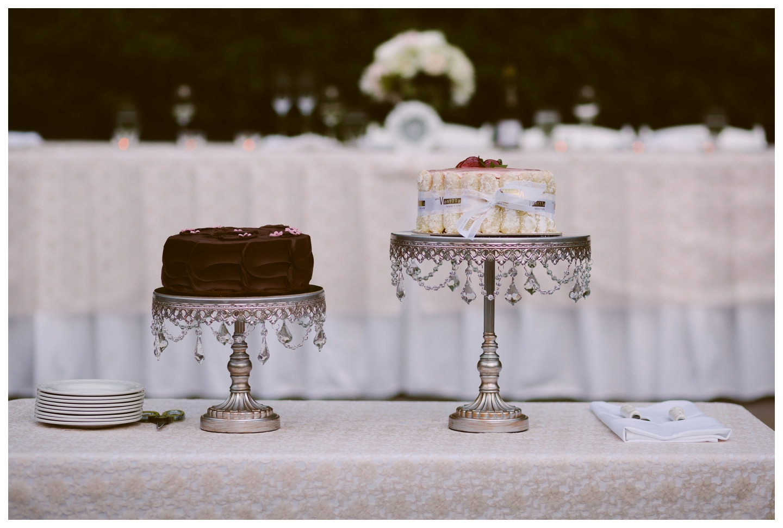 Chocolate vanilla wedding cake