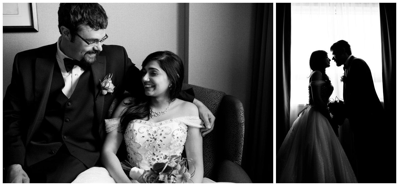Bridal portraits at Glenmore Inn Calgary