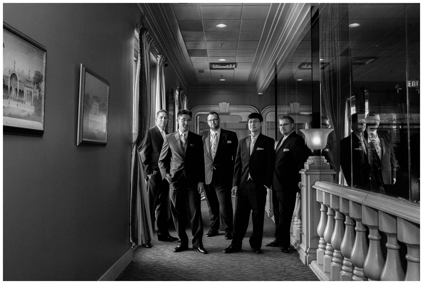 Calgary wedding portraits groomsmen