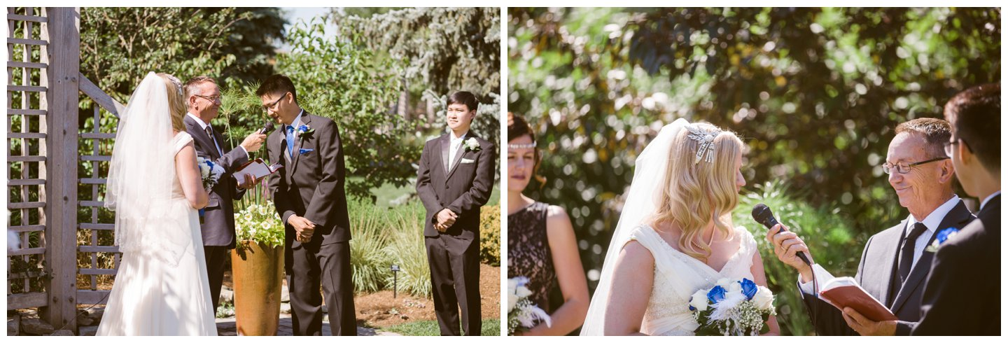 Calgary Zoo outdoor wedding ceremony