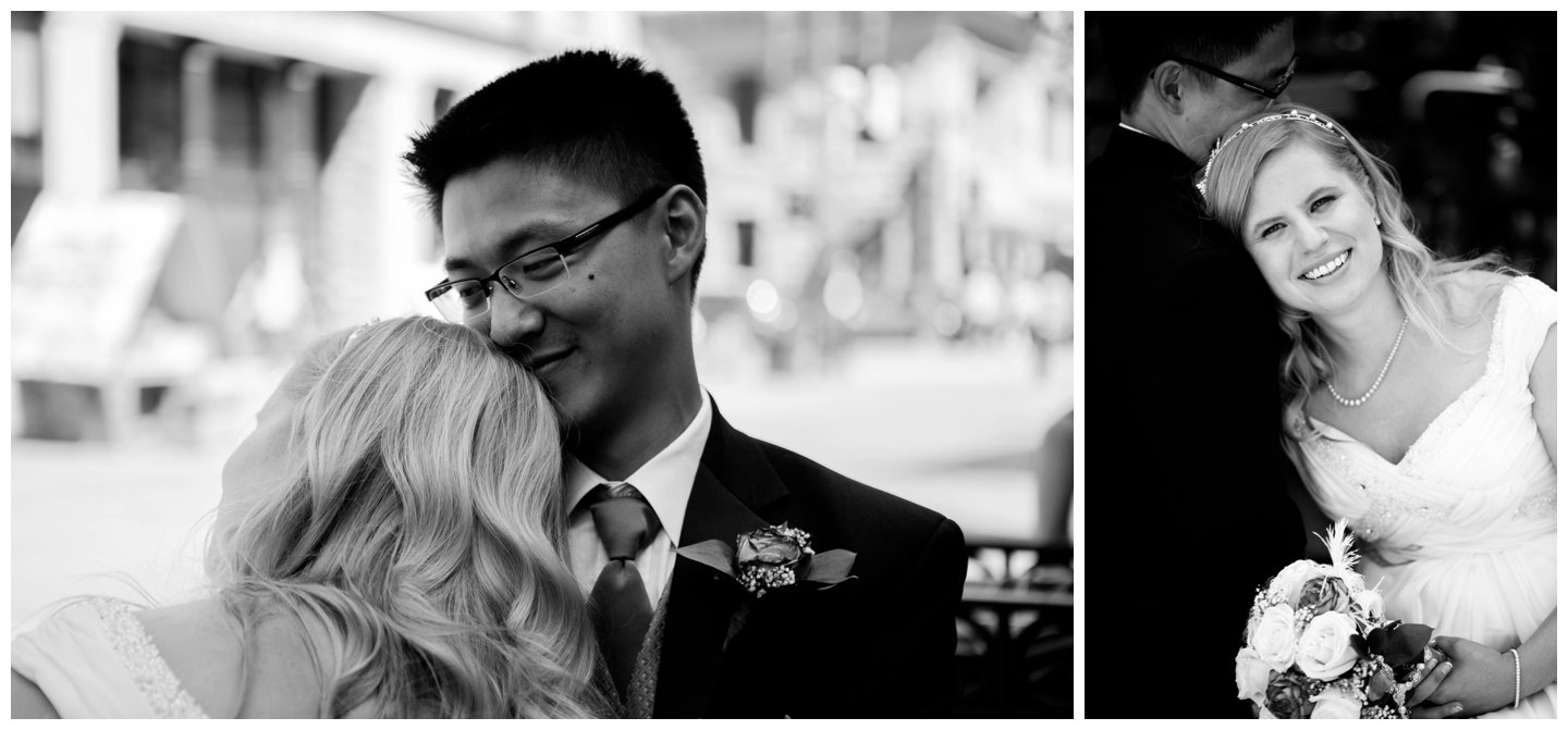 bride groom downtown calgary wedding