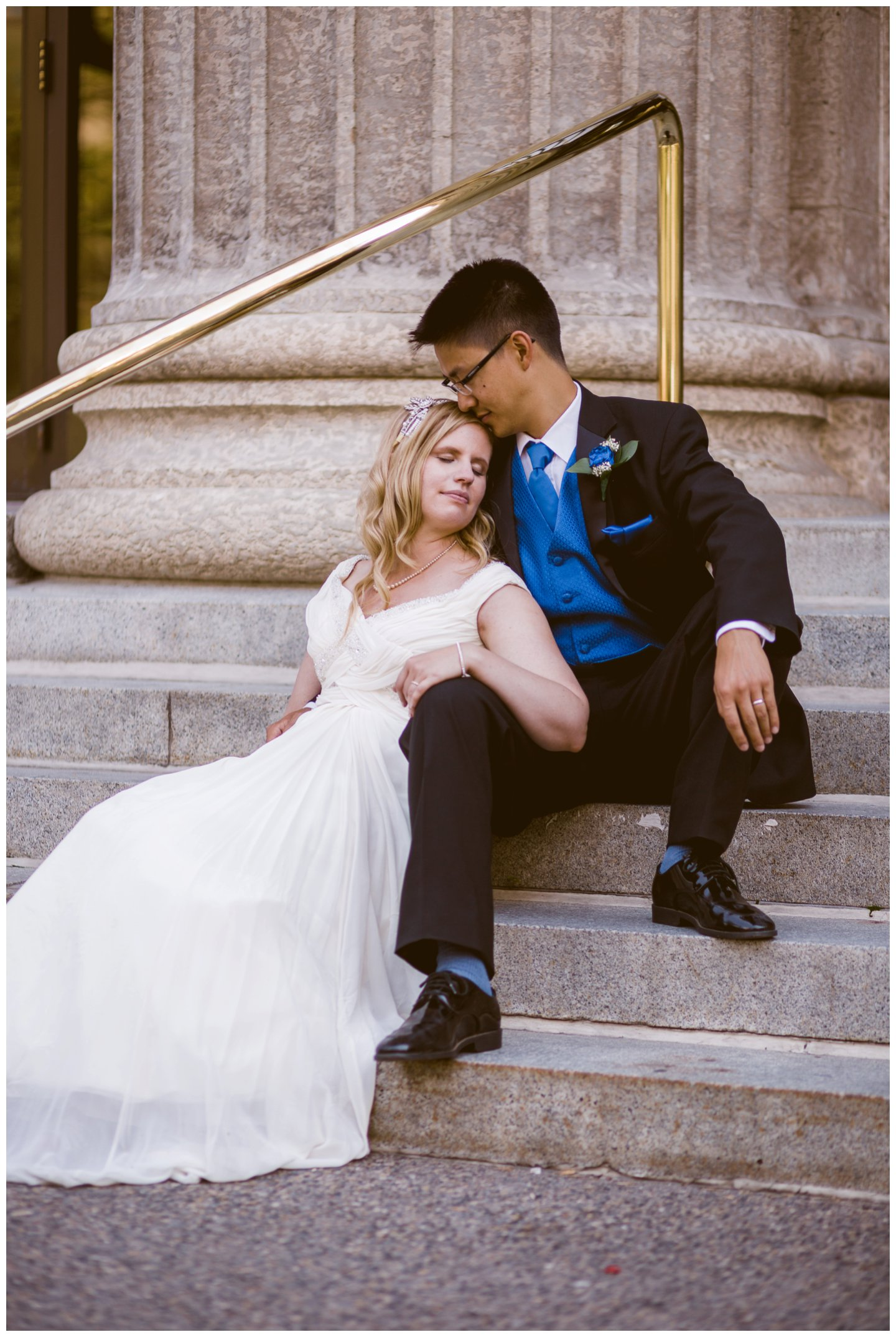Downtown calgary wedding portraits