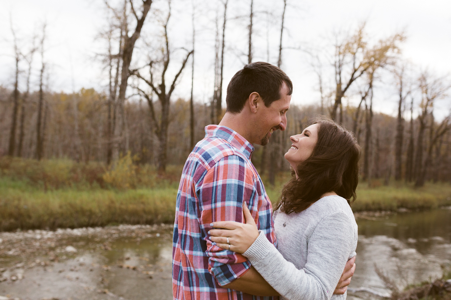 fish creek park engagement photos