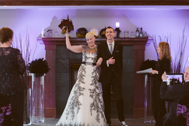 lynx ridge indoor fall wedding ceremony