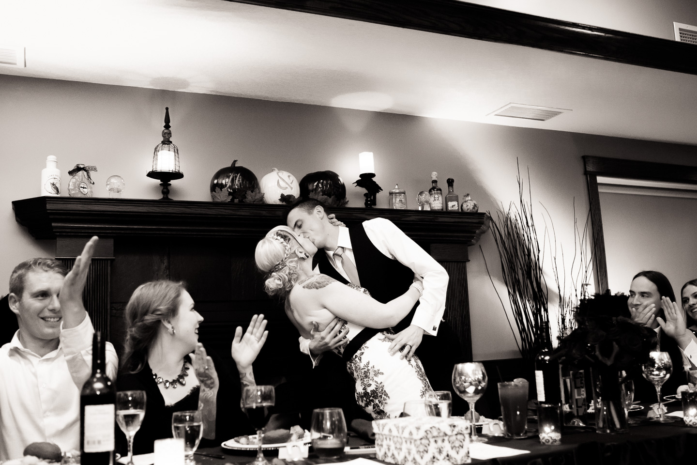lynx ridge halloween wedding kiss