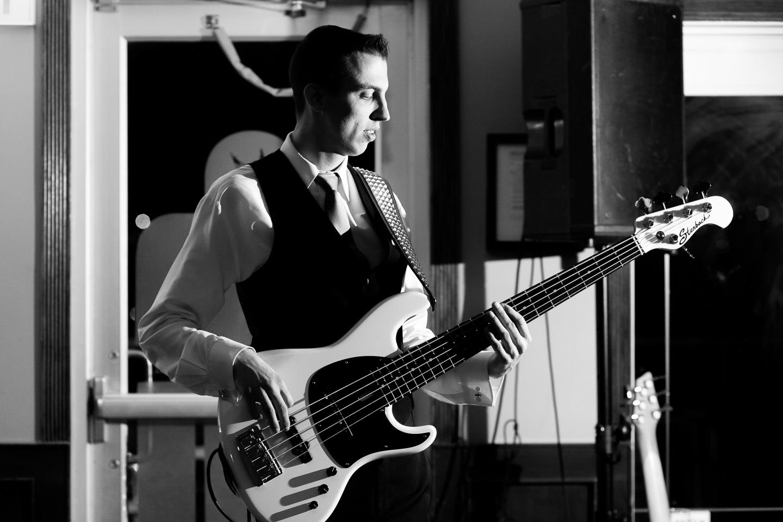 lynx ridge wedding groom playing bass