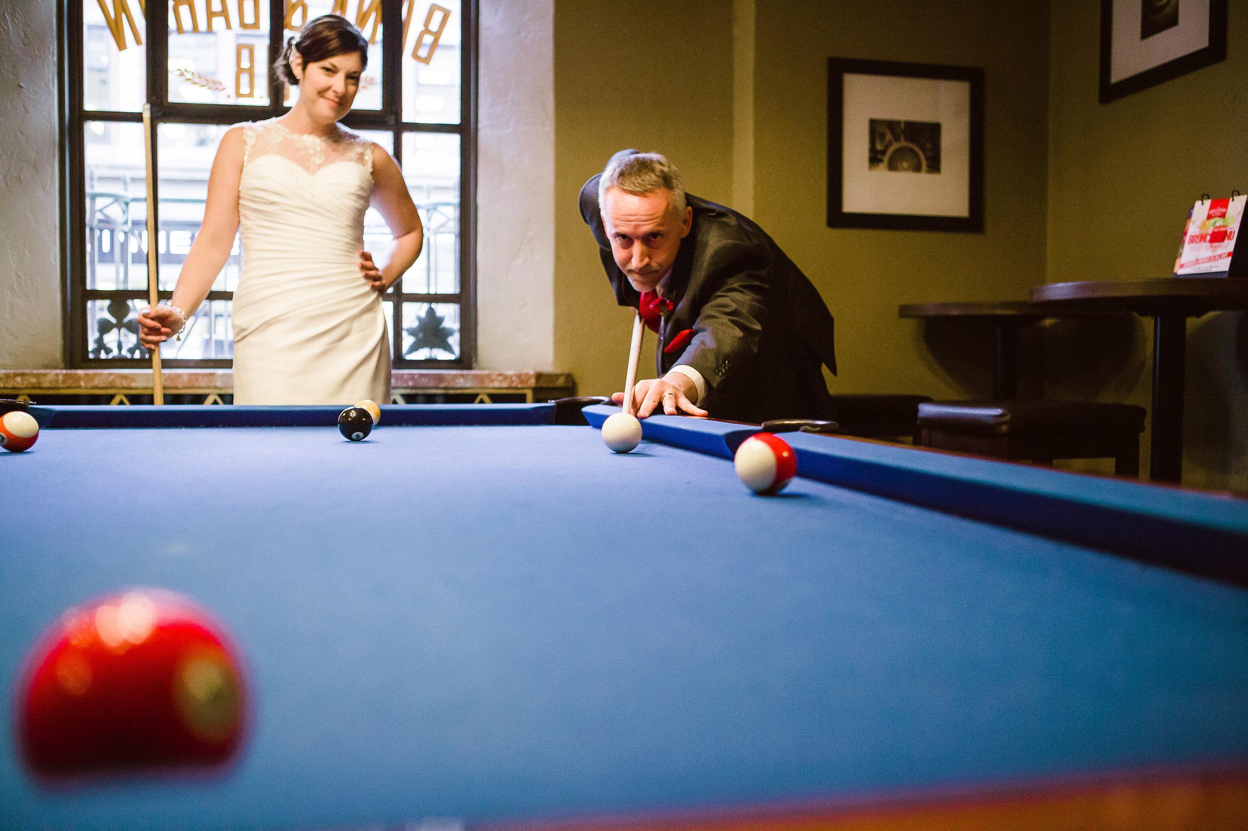 wedding day pool game