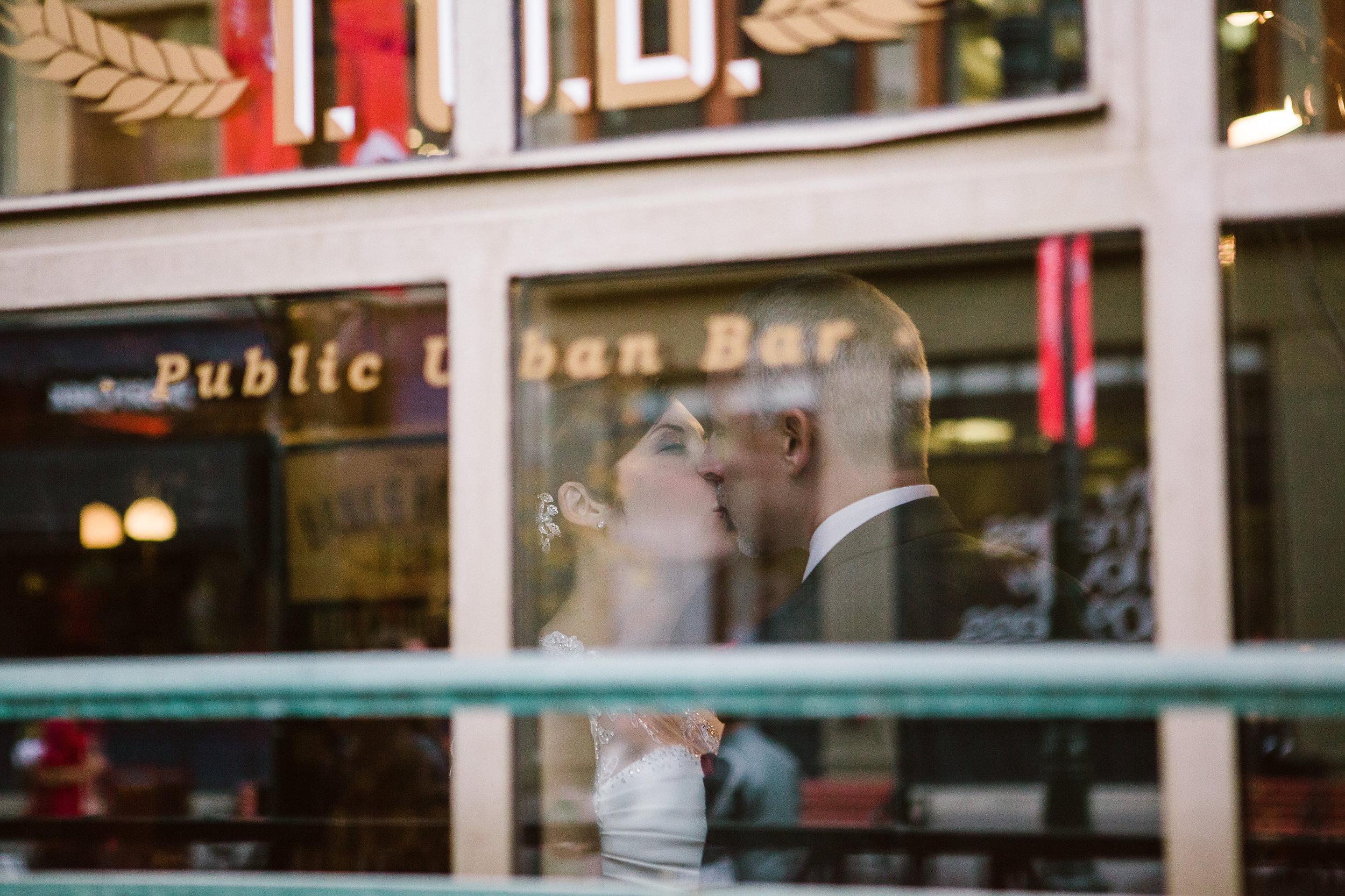 wedding day portrait pub