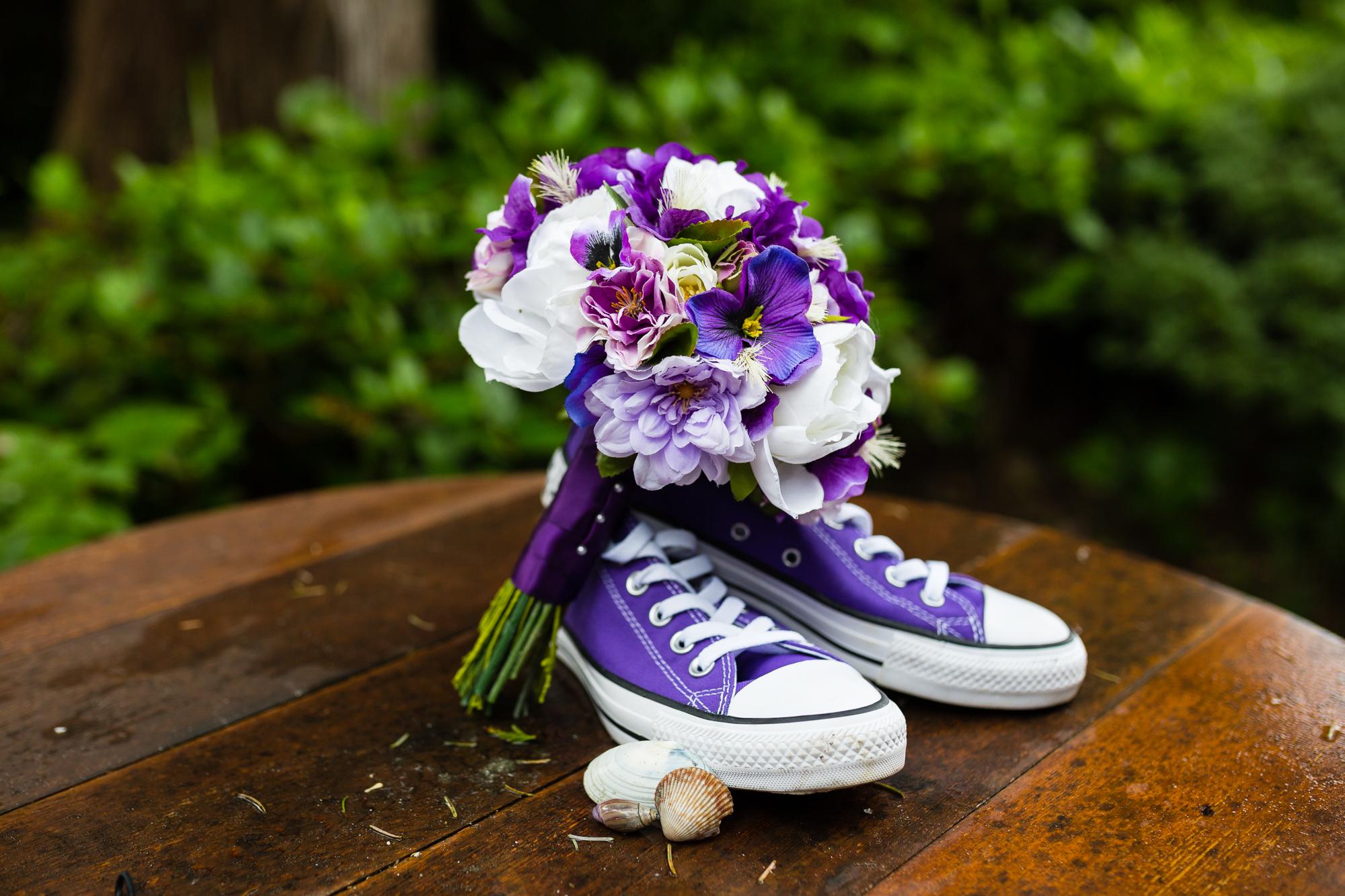converse wedding bouquet tofino