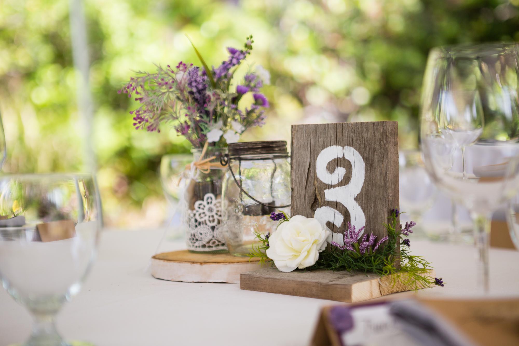 reception table tofino botanical gardens