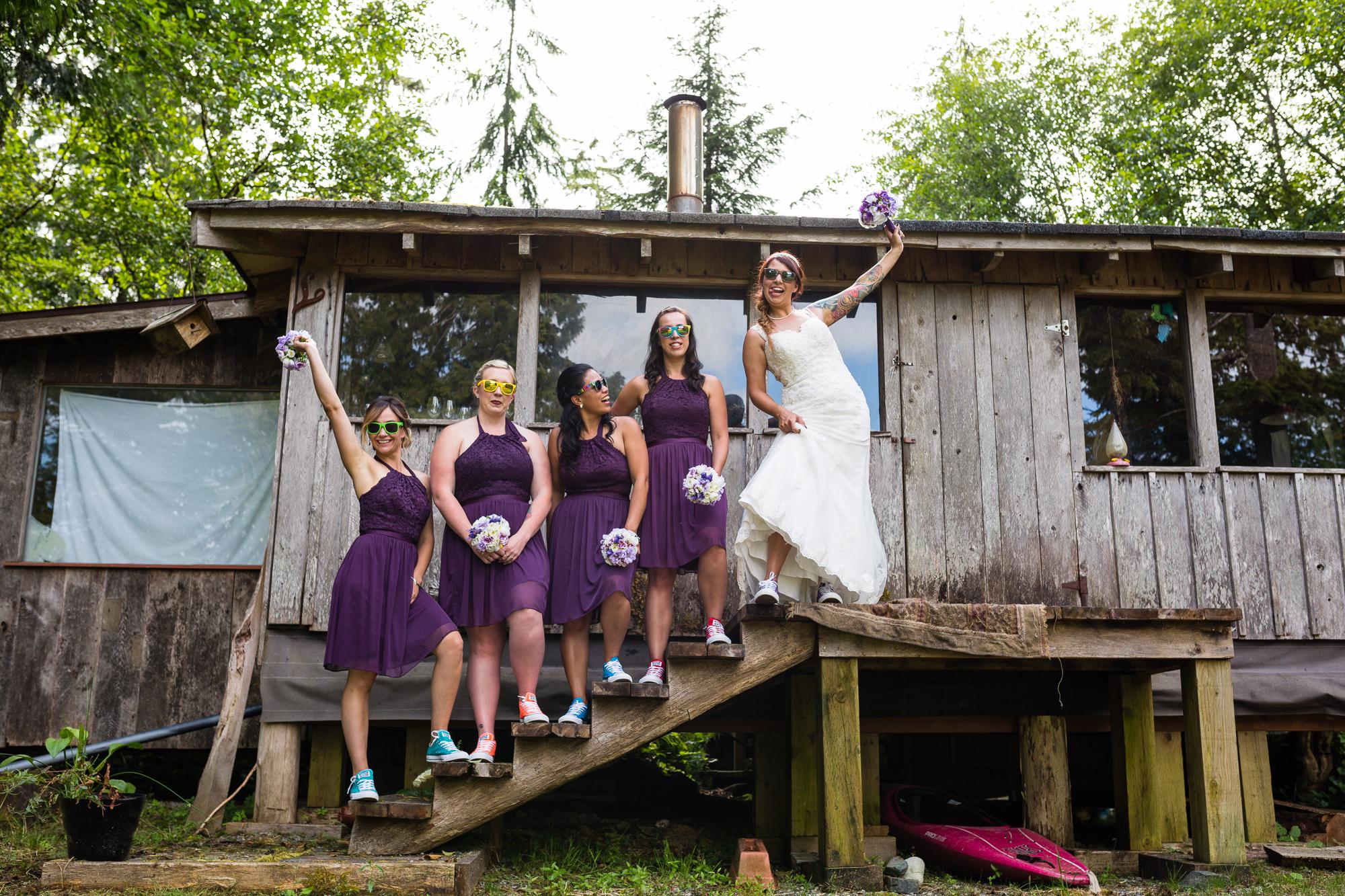 bridesmaids tofino botanical gardens