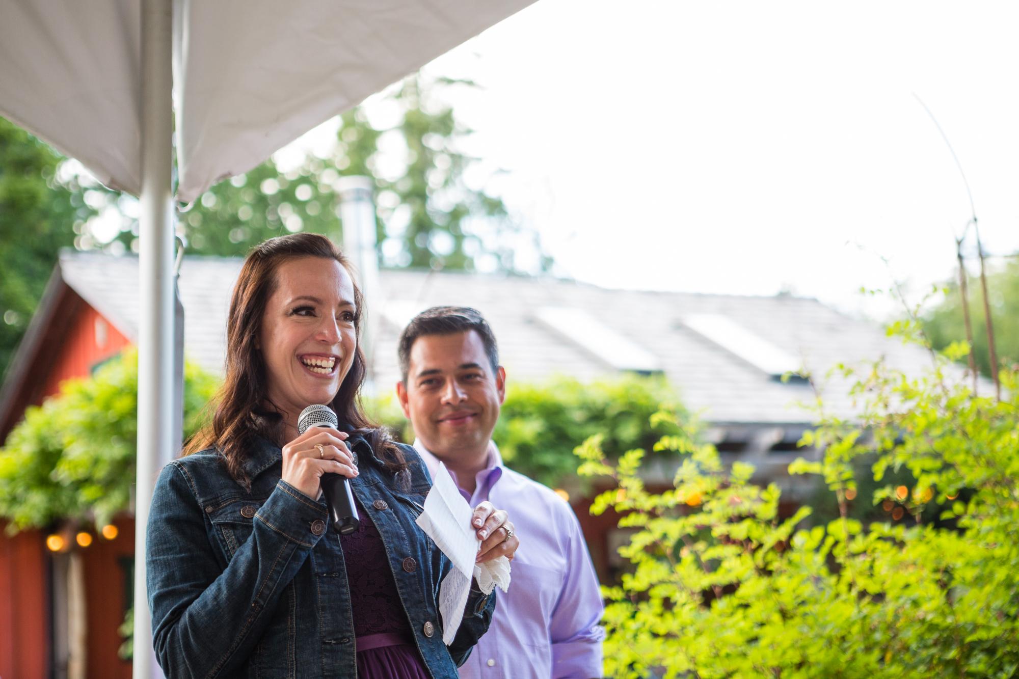 wedding speech tofino reception