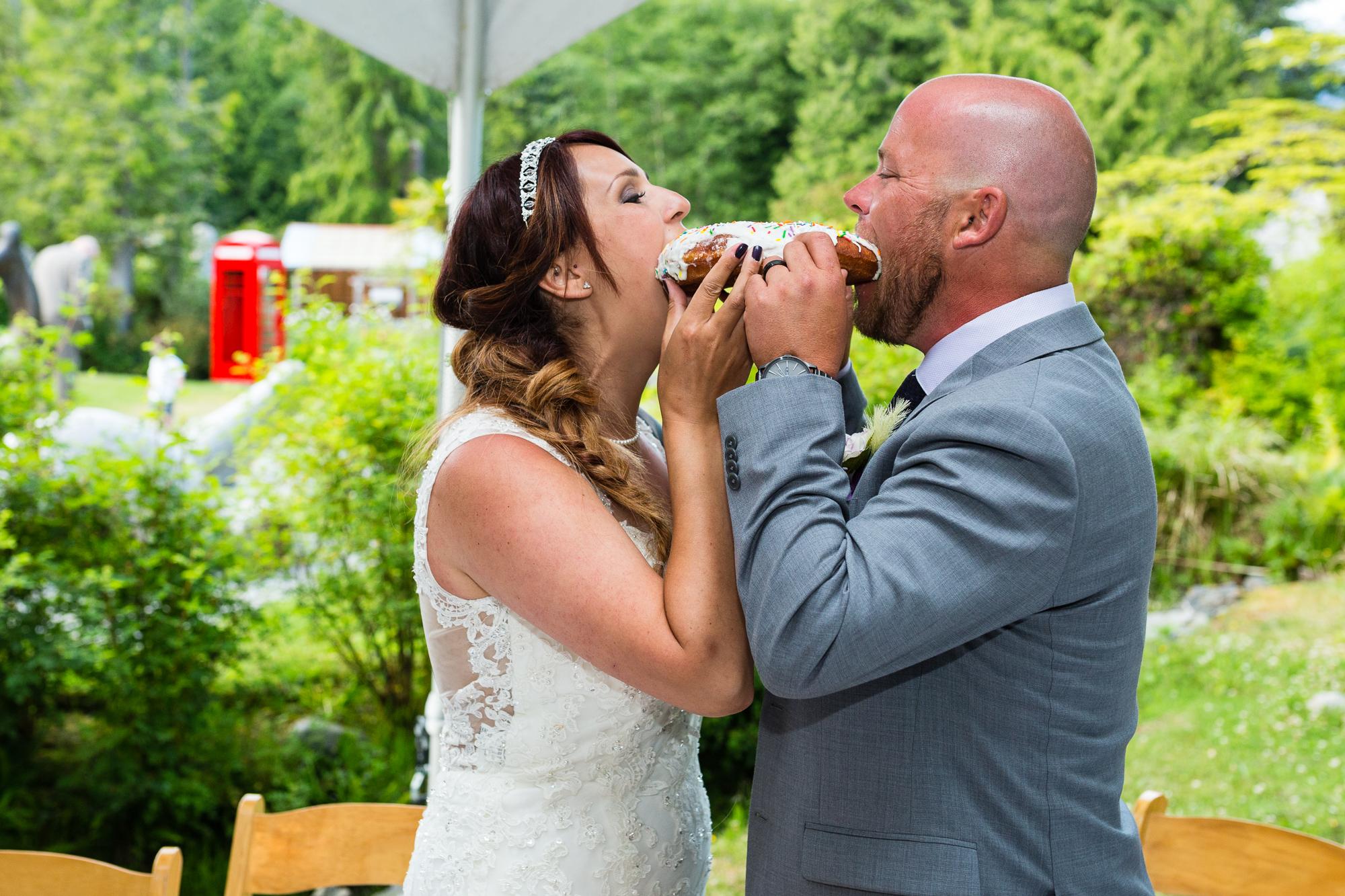 wedding reception tofino botanical gardens
