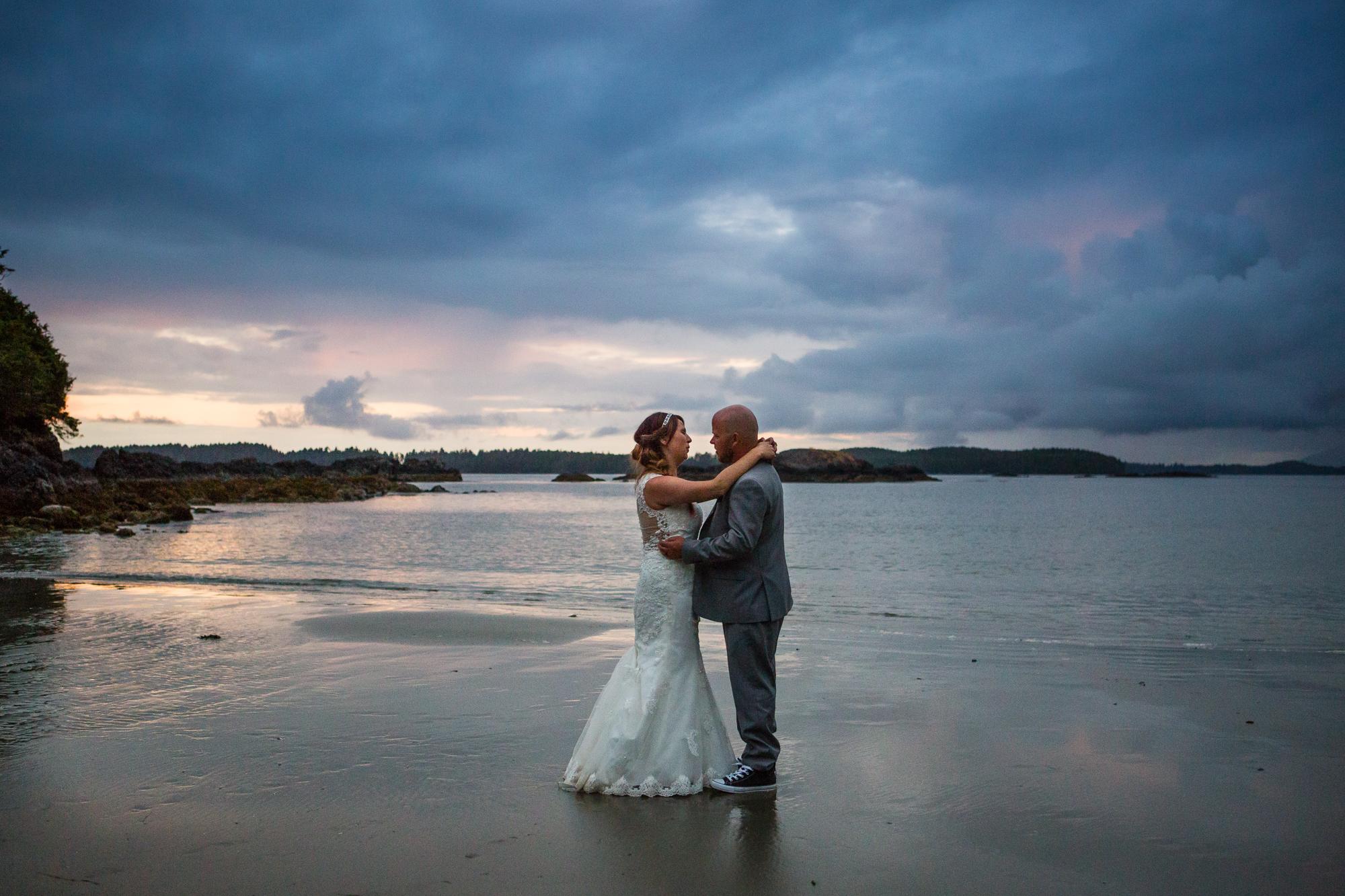 mackenzie beach sunset wedding photos