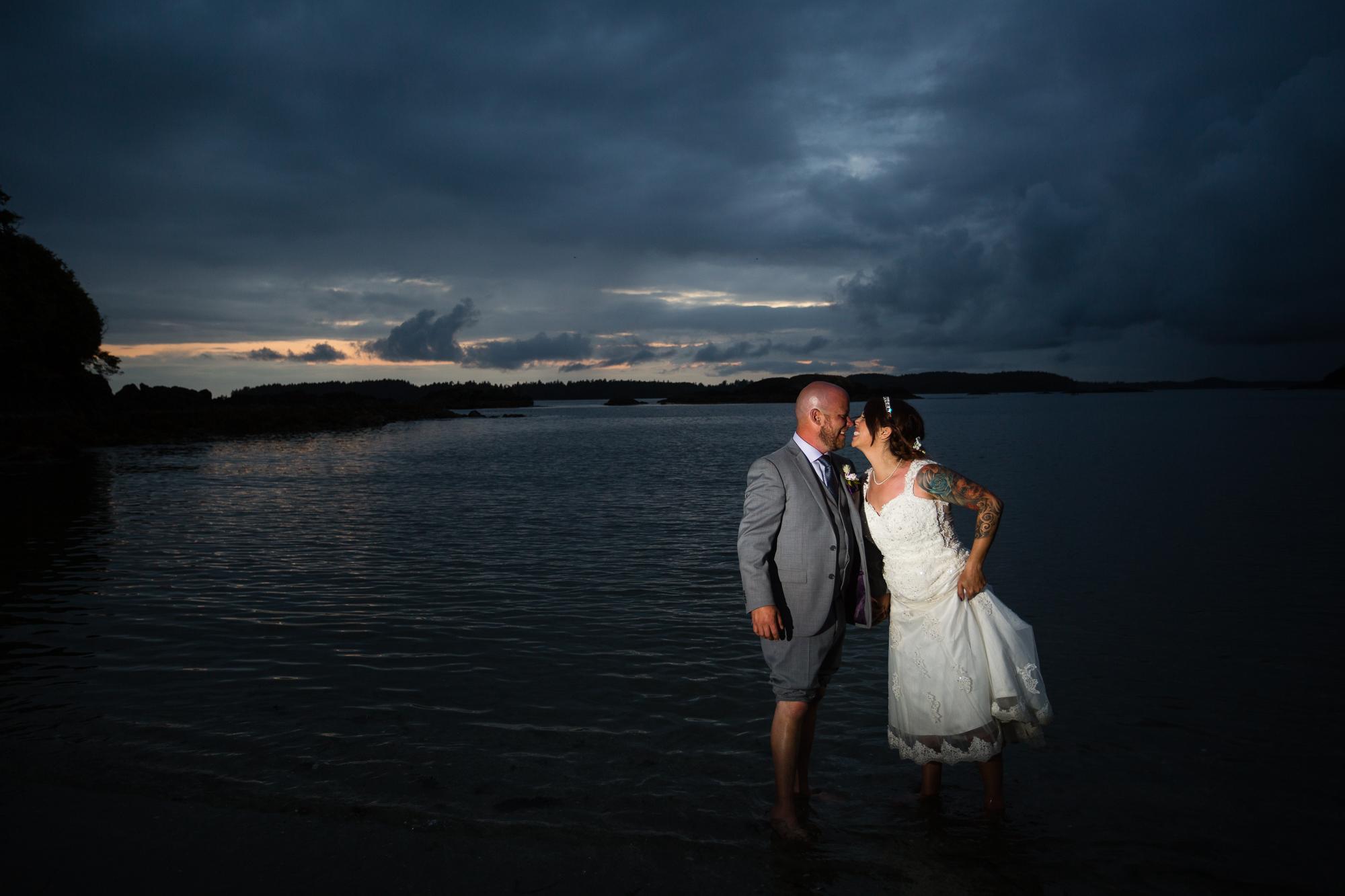 Crystal Cove beach resort wedding sunset