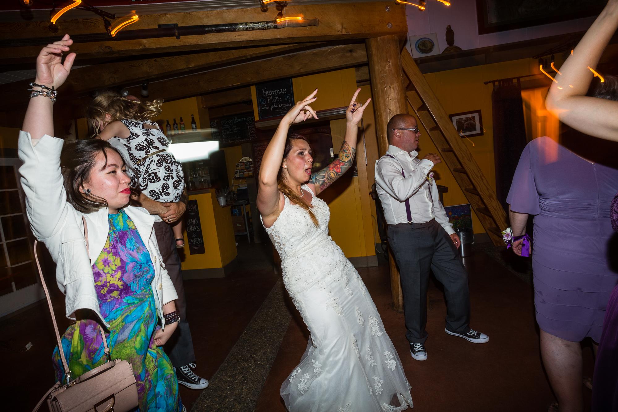 wedding reception tofino dance